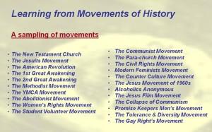 Movements List 1